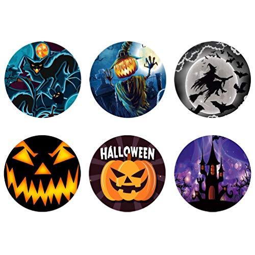 HUGS IDEA Happy Halloween Untersetzer Set mit 6 Stück in Home/Küche Wasserabsorbierung, rutschfeste Becher-Matten (9 x 9 x 1,8 cm), Halloween1, Einheitsgröße