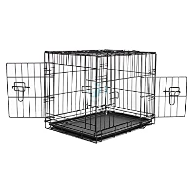 AmazonUkkitchen Pisces Metal Pet Crate with Plastic Tray by KCT