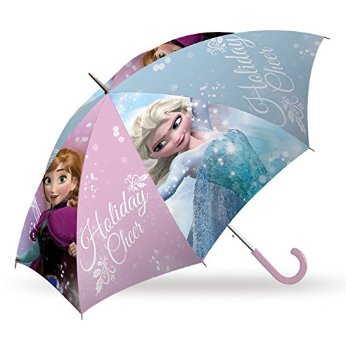 REGALITOSTV , Ombrello classico  Multicolore FROZEN 45CM TRANSPARENTEHOLYDAY CHEERS ROSA MANUAL