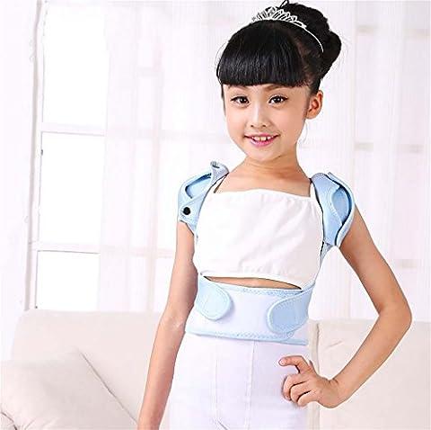 XUAN Zurück Schultern STÜTZgurt für Taille Kinder Gesundheit Lordosenstütze Gurt-Lage-Korrektor-Korrektur-Orthese Korsett , l