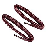 REMA 1 Paar Schnürsenkel - flach - ca. 7,0 mm breit in verschiedenen Farben und Längen (75 cm, Bordeaux)