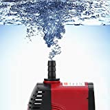Tauchpumpe, Tauchwasserpumpe Ultra-leise Mini Wasserpumpe für Aquarium Teich Garten Fisch für Aquarium, Hydrokultur, Aquarien(#2)