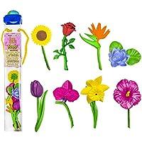 Safari Toobs Ensemble de répliques de fleurs miniatures