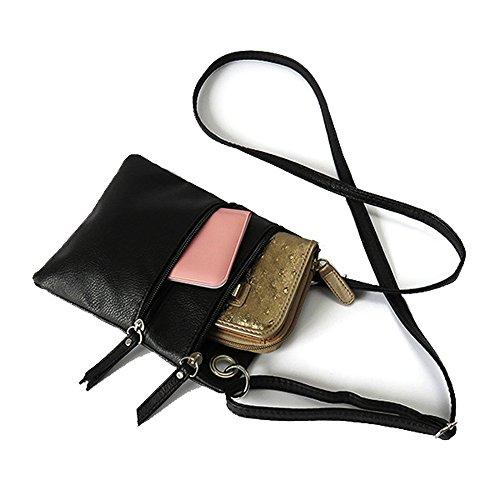 Tibes Sacchetti crossbody Borse a tracolla donna piccole Borse per ragazze Messenger Sacchetti di spalla Nero 2 Beige