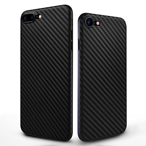 iPhone 8 hülle, iphone 7 case 4,7 Inch Zoll Carbon Fiber Pattern PP Handy Falle Abdeckung Business Style Shockproof Anti-Scratch Drop Schutz 0.5mm Ultra Thin 6g Leicht (Schwarz) (Kühle Handy-fälle Für Iphone 4)