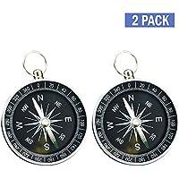 Lezed (2Pcs) Kompass,Bergsteigen Kompass,Outdoor-Camping-Wander-Navigation Kompass,Leicht , Leicht zu tragen