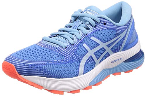 new style 0e545 34e5c ASICS Gel-Nimbus 21, Chaussures de Running Femme, Multicolore (Blue Coast