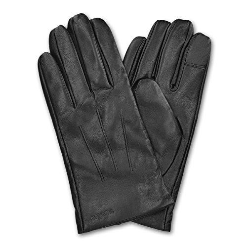 Navaris guanti touchscreen in vera pelle in nappa per uomo - pelle di...