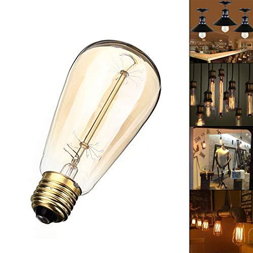 Retro Glühbirne Edison E27 60W Glühbirne 110V Ferienlampe Pyrotechnikbirne für Zuhause/Weihnachten/Dekoration