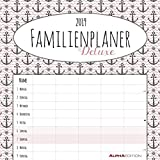 Familienplaner Deluxe 2019 - Broschürenkalender (30 x 60 geöffnet) - mit 5 Spalten - mit Ferienterminen - Wandplaner