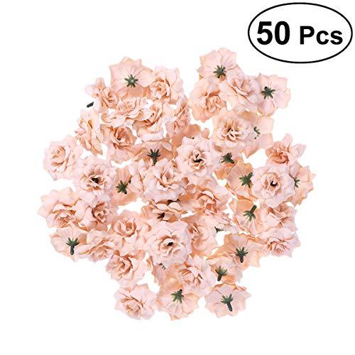 ULTNICE 50 Stück künstliche Flanell Stapelia Köpfe Home Blumengarten Hochzeit Geburtstag Party Dekoration
