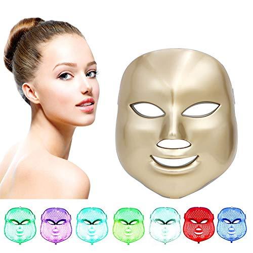 7 Colore LED Maschere Terapia Della Luce Maschere ...
