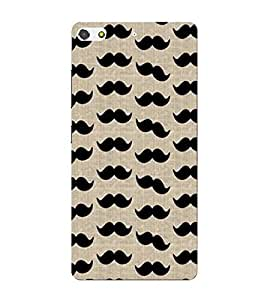 Mushtash, Black, Lovely Pattern, Amazing Pattern, Printed Designer Back Case Cover for Gionee Elife S7