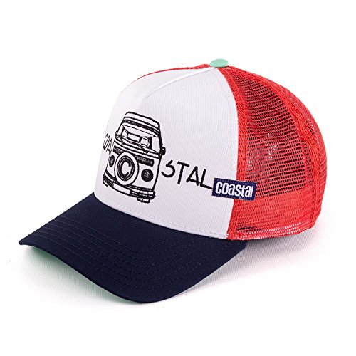 Coastal Trucker Cap C-Bull Weiß Rot, Size:ONE Size