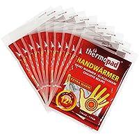 Thermopad Handwärmer | kuschlig weiches Wärmekissen | 12 Stunden wohltuende Wärme von 55°C |  angenehme Taschenwärmer | 10er Pack