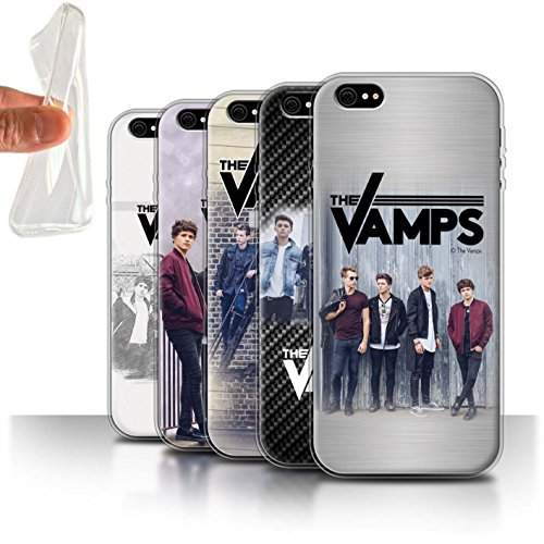 Offiziell The Vamps Hülle / Gel TPU Case für Apple iPhone 6S / Pack 6pcs Muster / The Vamps Fotoshoot Kollektion Pack 6pcs