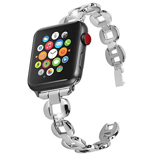 Nike-monitor-armband (Greatfine 38mm Edelstahl Uhrenband Ersatzarmband Metallschließe Uhrenarmband Armband für Apple Watch Series 1 Series 2 38mm (38mm, Metal Silver))