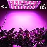 LED Pflanzenlampe, LENDOO Pflanzenleuchte Ultra dünn, 45W 225 LEDs Blau & Rot Licht Einstellbare Wachsen Lichter Inneng