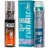 Engage M1 Perfume Spray For Men, 120ml and Engage G1 Cologne Spray For Women, 135ml