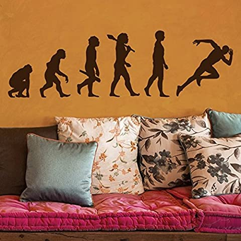 Evolution coureur - Sticker mural or 335 x 100 cm (Muraux Décoration Murale Stickers Wall Decal Autocollants Salon Chambre d'enfants Nursery Made in Germany)