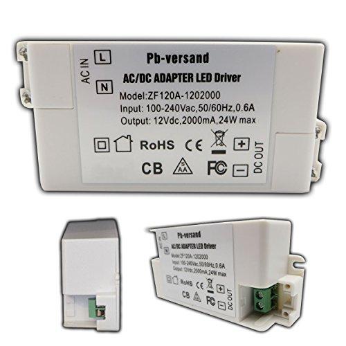 LED Leuchmittel Trafo 12V DC 24 Watt Netzteil Treiber Niedervolt Transformator