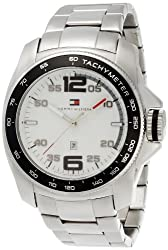 Tommy Hilfiger Tachymeter Analog White Dial Mens Watch - TH1790856J