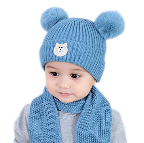 MS.REIA Baby Jungen Mädchen Warmer Schal Hut Kinder Winter Gestrickt Verdicken Fleece Hüte Multicolor Choice Neujahrsgeschenke Crazy Fleece Hüte