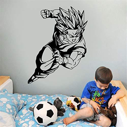 Wandtattoo Kinderzimmer Wandtattoo Schlafzimmer Dragon Ball Wandtattoo Goku Super Saiyan Dragon Ball Vinyl Aufkleber Db Wand Auto Aufkleber Dekoration für Teenager Schlafzimmer Dorm Wasserdicht
