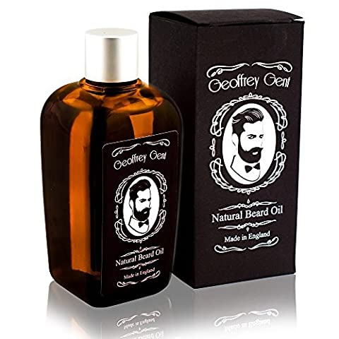Geoffrey Gent Best Beard Oil For Men 100ml NO SCENT Jojoba Oil Beard and Conditioner Grooming 100% Natural Moisturiser Made in UK