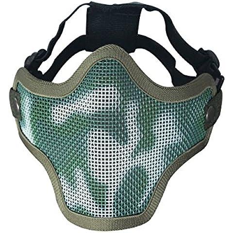 Tactical per softair, con rete metallica-Guard CS Face Mask inferiore in metallo (Camouflage) - Camo Tactical Paintball