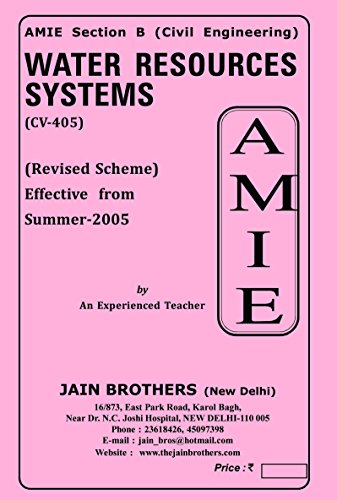 AMIE Water Resources Systems CV 405 Solved Paper