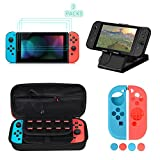 Kit Protección para Nintendo Switch, moonlux Funda Switch Accesorios de Protección incluyen Funda Switch /Nintendo Switch Playstand /3 Protector de pantalla/Funda de Silicona para Joy-Con y Otros Acceso