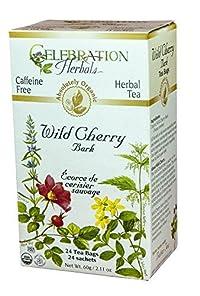Celebration Herbals - Wild Cherry Bark Tea, Caffeine Free - 24 Count