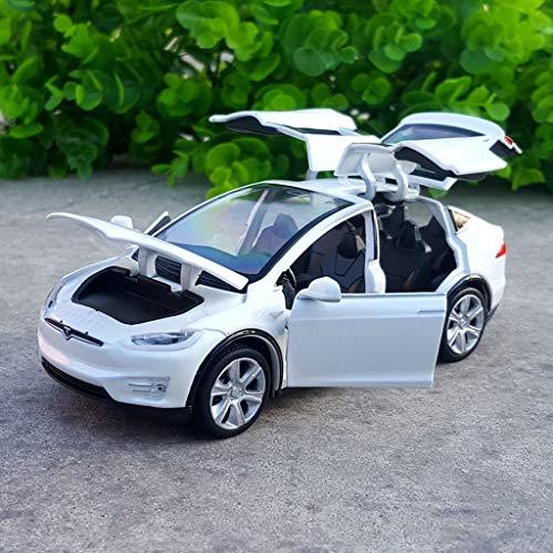 Scala 1:32 Modello di auto in lega, X90 Tesla Sports Car Diecast Simulazione modello di auto con luce sonora, tirare indietro Modello di auto giocattolo Automobili Giocattoli for bambini Collezione O