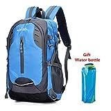 Senderismo Trekking Mochila 30 Litros Bolsa de viaje impermeable Mochila de camping al aire libre para niñas (Azul)