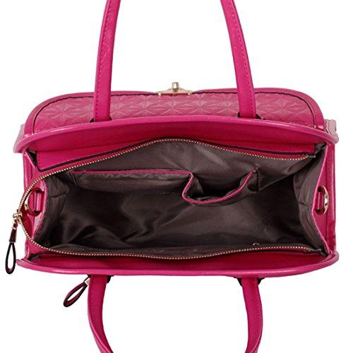 Zarla-Borsa a tracolla in finta pelle, da donna, con tracolla e tasca grande sulla parte anteriore Rosa (Rosa)