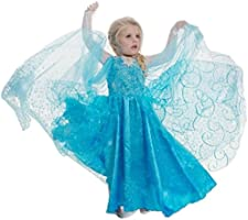 Vestito principessa Bambina Dress Carnevale Costume Bimba childen Blu 510