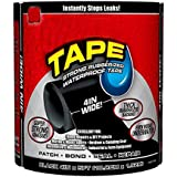 "VOETEX ZONE Waterproof Flex Tape,Seal Repair Tape, Super Strong Adhesive Sealant Tape to Stop Leakage of Kitchen Sink/toilet Tub, leak stop, stop leak tape, Black 4"" X 5' (1)"