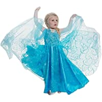 Vestito Frozen Bambina Dress Carnevale Costume Bimba childen Blu 510