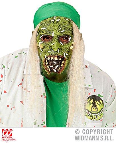 Enter-Deal-Berlin HALBMASKE - TOXISCHER Zombie - mit Haaren, Vergiftung Nuklear Verseucht Untote Horrormasken Untoter Tod Monster Zombies Gesicht ()