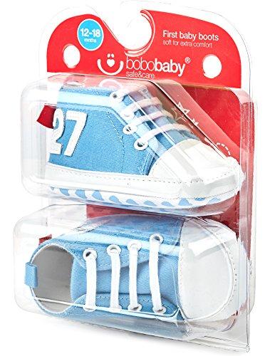 Bobobaby Baby Mädchen und Jungen Bobobaby Babyschuhe Hausschuhe BL-106 Hellblau