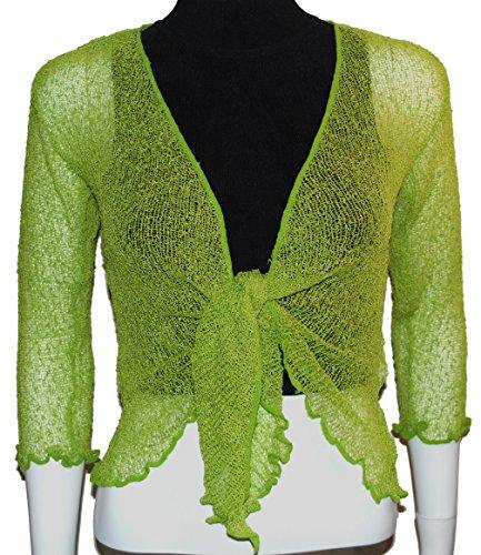 EeZeeCat Da donna, in maglia Greenhouses Coprispalle/Bolero top–see Massive gamma di colori Green 85