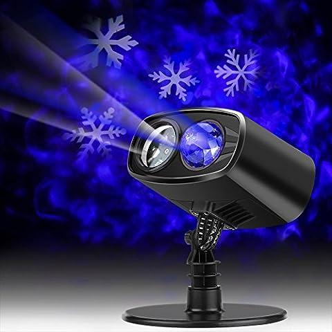 LED Licht Projektor Schneeflocke Motion Projektionslampe Wasserdicht IP65 Effektlicht innen/