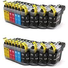 20x Compatible XL tinta cartuchos reemplazo for BROTHER LC-125 BK/C/M/Y   4x LC-125 C/M/Y + 8x LC-127 BK   con BROTHER MFC-J4110 DW MFC-J4410 DW MFC-J4510 DW MFC-J4610 DW MFC-J4610 DW