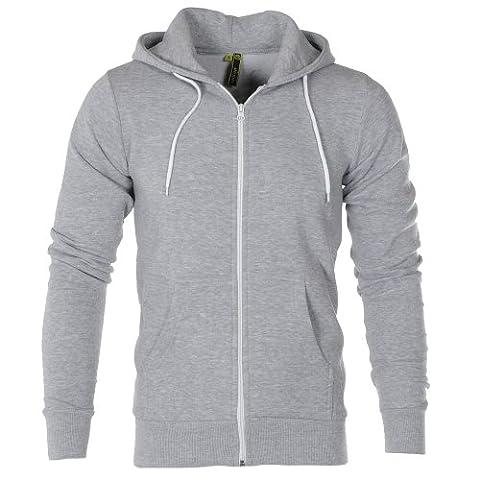 Raiken Apparel Flex Fllece Hoody Mens-Grey-L