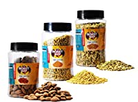 Roastway Foods Roasted Almonds and Jeggery Fennel(Mouth Freshner) and Premium Seeds Mix