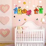 Best Graphics and More Bird Cages - Colorful Cage Wind Chime Wall Stickers for Kids Review
