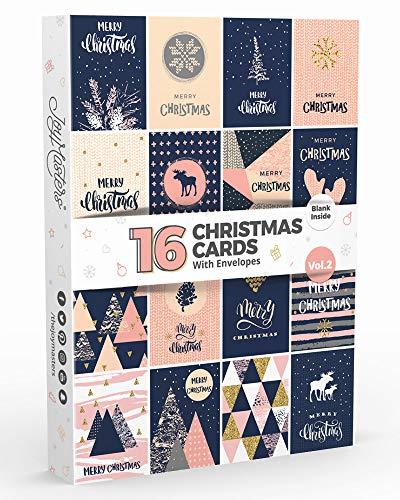Joy Masters - 16 Tarjetas Navideñas   Caja Christmas