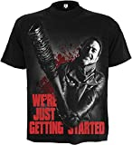 Spiral - Men - NEGAN - JUST GETTING STARTED - Walking Dead T-Shirt Black
