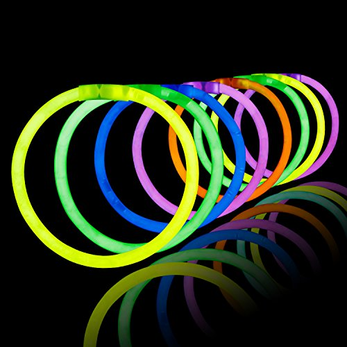 RUSPEPA200Pcs 8 '' 5mm Glow Sticks Armbänder Verschiedene Farben, Geburtstag Party Gefälligkeiten